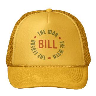 Bill Man Myth Legend Customizable Trucker Hat