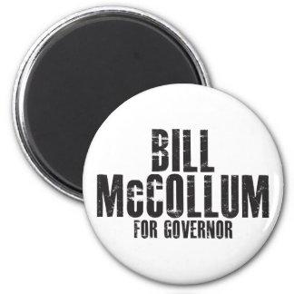 Bill McCollum para el gobernador 2010 Imán Redondo 5 Cm