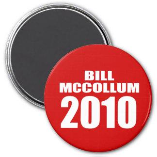 BILL MCCOLLUM PARA EL GOBERNADOR IMÁN REDONDO 7 CM
