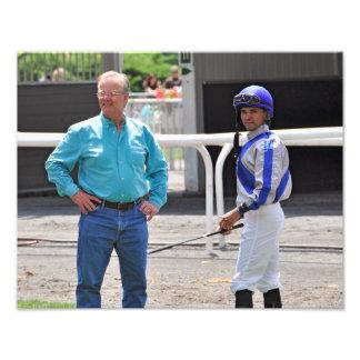 Bill Mott and Jose Lezcano at Belmont Park Photo Print