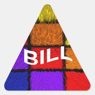 BILL (nombres masculinos) Pegatina Triangular