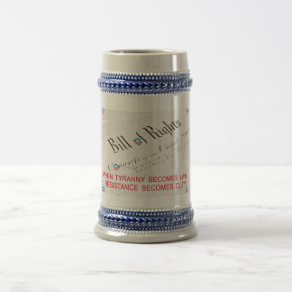 Bill Of Rights 18 Oz Beer Stein