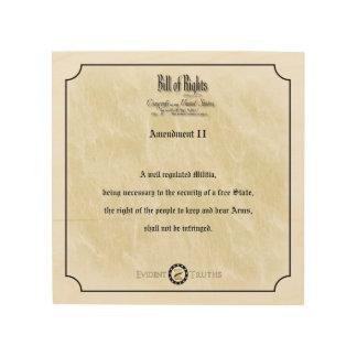 Bill of Rights - 2nd Amendment rustic wall plaque Wood Print