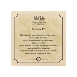 Bill of Rights -4th Amendment rustic wall plaque Wood Wall Art