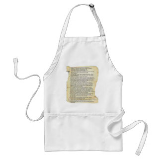 bill of rights adult apron