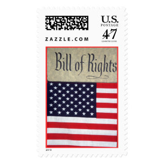 Bill of Rights and U.S. Flag Stamp