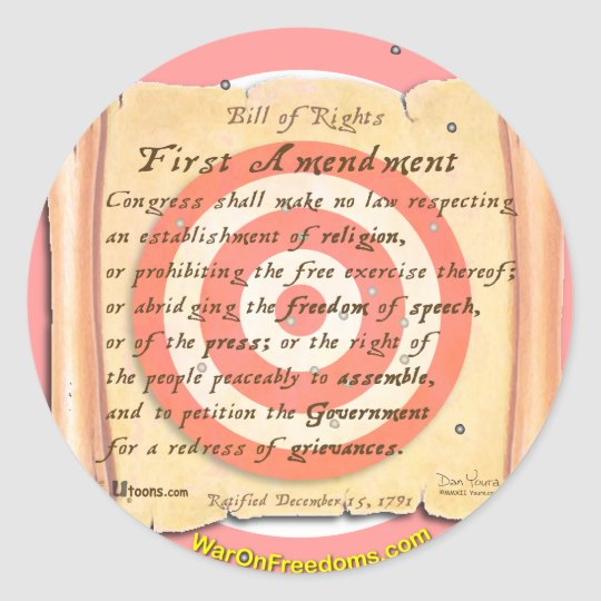 Bill of Rights Classic Round Sticker