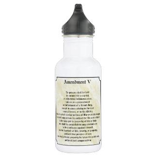 Bill of Rights Fifth Amendment 18oz Water Bottle