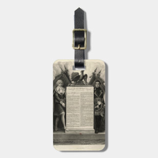 Bill of Rights French Constitution of 1795 Bag Tag