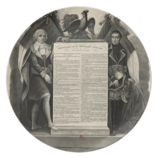 Bill of Rights French Constitution of 1795 Dinner Plate
