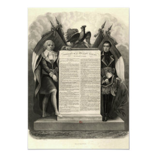 Bill of Rights French Constitution of 1795 Custom Announcements