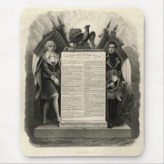 Bill of Rights French Constitution of 1795 Mousepad
