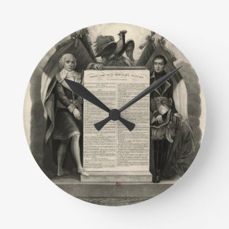 Bill of Rights French Constitution of 1795 Round Clock