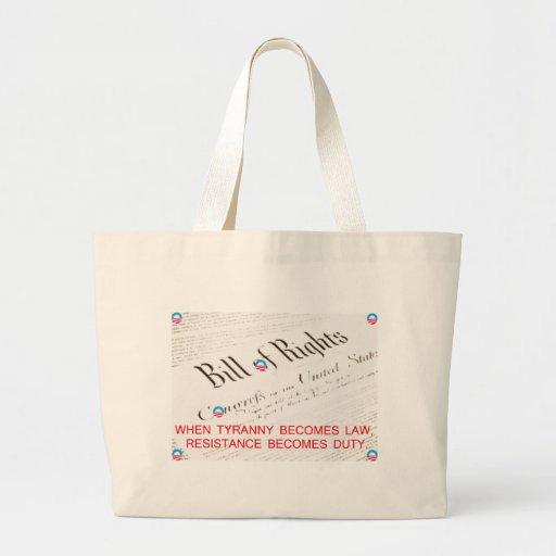 Bill Of Rights Jumbo Tote Bag