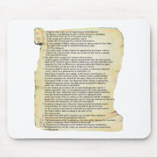 bill of rights mouse pads