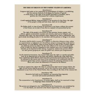 Bill of Rights Postcards