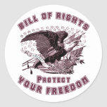 Bill Of Rights Round Stickers