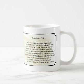 Bill of Rights - Sixth Amendment Classic White Coffee Mug