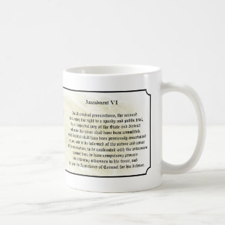 Bill of Rights - Sixth Amendment Coffee Mug