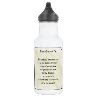 Bill of Rights Tenth Amendment 18oz Water Bottle
