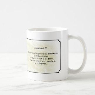 Bill of Rights - Tenth Amendment Classic White Coffee Mug