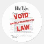 Bill of Rights -VOID Classic Round Sticker