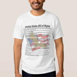 Bill of Rights with Flag and Eagle T Shirt