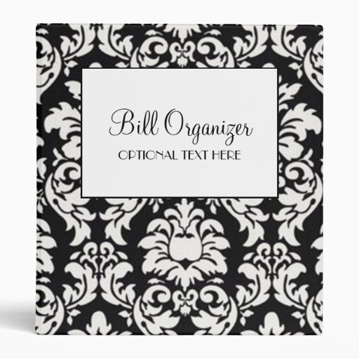 Bill Organizer 3 Ring Binder