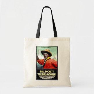 """Bill Pickett en el bolso """"de la Bull-Dogger"""" Bolsa De Mano"""