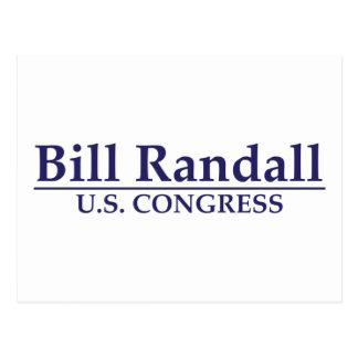 Bill Randall for Congress Postcard