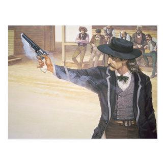 """""""Bill salvaje"""" Hickok (1837-76) demuestra su marca Postales"""