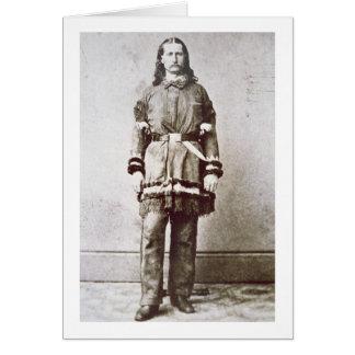 """""""Bill salvaje"""" Hickok (1837-76) (foto de b/w) Tarjeta De Felicitación"""