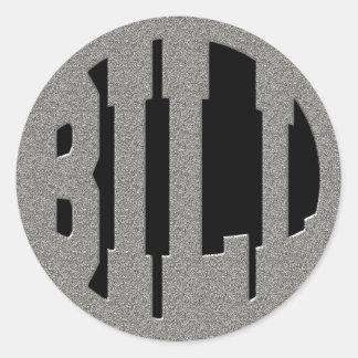 BILL - SILVER TEXT CLASSIC ROUND STICKER