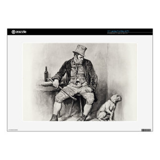 "Bill Sykes and his dog, from 'Charles Dickens: A G 15"" Laptop Decal"