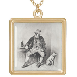 Bill Sykes and his dog, from 'Charles Dickens: A G Gold Plated Necklace