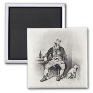 Bill Sykes and his dog, from 'Charles Dickens: A G 2 Inch Square Magnet