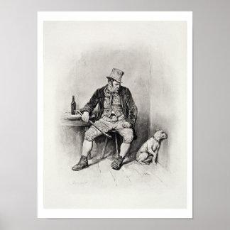 Bill Sykes y su perro, de 'Charles Dickens: UN G Póster