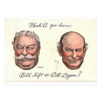 Bill Taft er Bill Bryan? Postcard