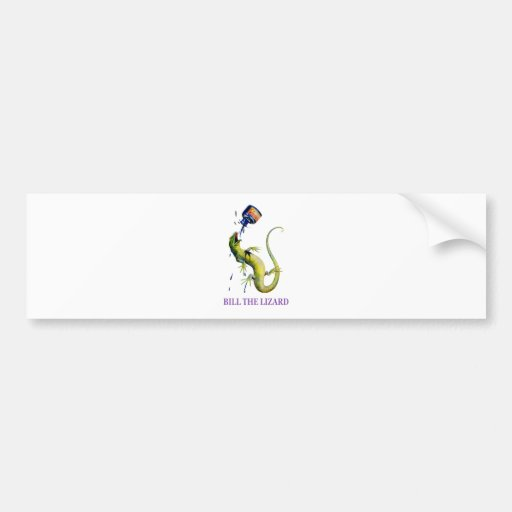 BILL THE LIZARD AND A TOSSED BOTTLE OF INK BUMPER STICKER