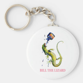 BILL THE LIZARD IS ATTACKED BY THE QUEEN BASIC ROUND BUTTON KEYCHAIN