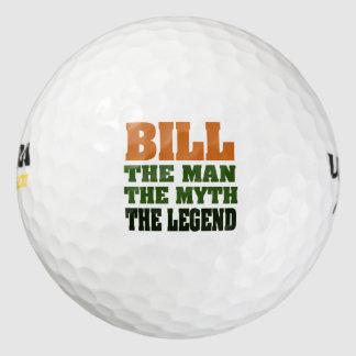 Bill  the Man, the Myth, the Legend Golf Balls
