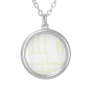 Bill W Homeboy Fellowship AA Meetings Silver Plated Necklace