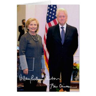 Bill y Hillary Clinton Tarjeta De Felicitación