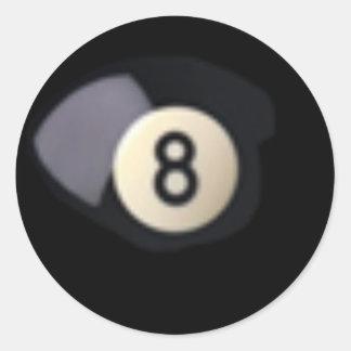 Billard Ball 8 Stickers