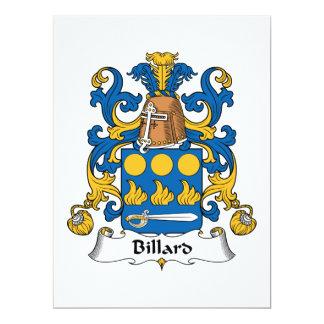 Billard Family Crest Personalized Invites