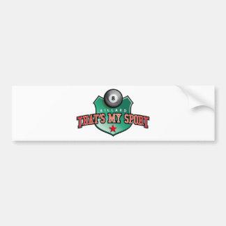 billard - that's my sport bumper stickers