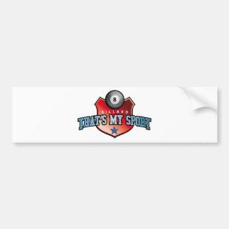 billard - that's my sport bumper sticker