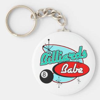 Billards Babe Keychain