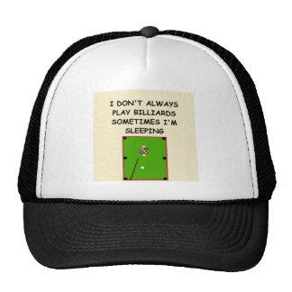 billards mesh hat