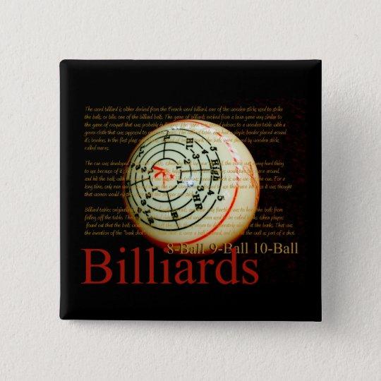 Billards Pinback Button